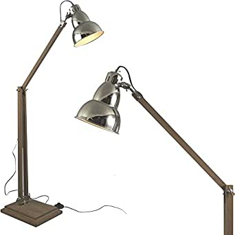 mojo industrial chic lampe stehlampe retro vintage leuchte sofalampe l39 beleuchtung. Black Bedroom Furniture Sets. Home Design Ideas