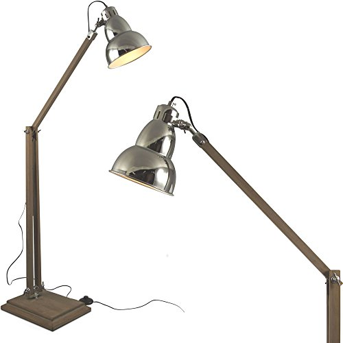 mojoliving MOJO Industrial Chic Lampe Stehlampe Retro Vintage Leuchte Sofalampe l39