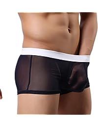 Y-BOA Boxer Brief Transparent Homme Léger Slip Sous-Vêtement Caleçon Court Respirant