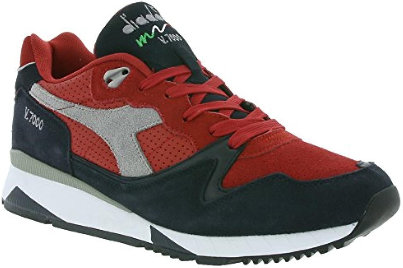 Diadora - V7000 Premium - 50116199801C6273 - El Color Negro-Rojo - Talla: 44.0