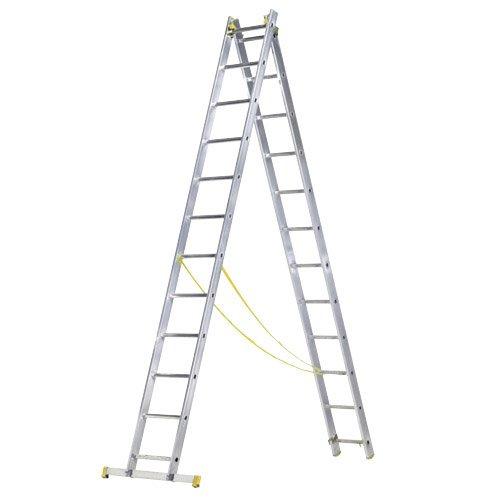 Escanor 23020002 Escalera Aluminio 2 Tramos 9+9 Peldaños