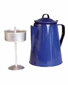 Mil-Tec Cafetière émaillée avec percolateur Capacité 8 tasses