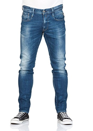 Replay Herren Jeanshose Anbass Blue Denim