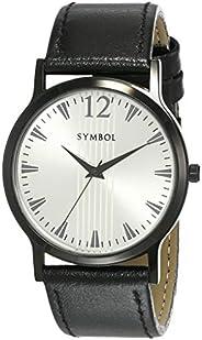 Amazon Brand - Symbol Men's Analog Silver Dial W