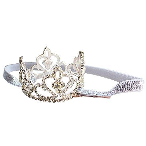 Smalldargon Exquisite Rhinestone Sparkling Crystal Photo Prop Bridal Wedding Party Newborn Baby Tiara Crown Headband- Princessa Gorgeous by SmallDaragon