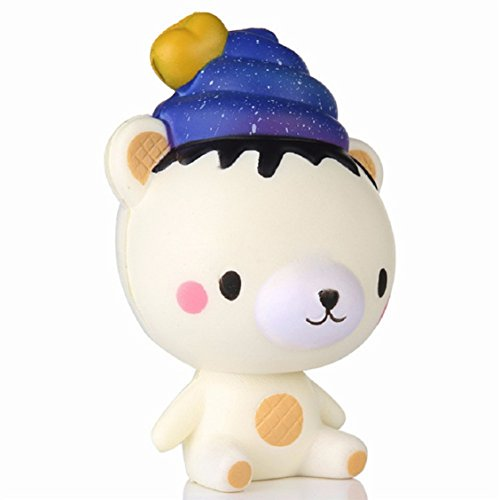 Die Sterne Poo Bär Squeeze Spielzeug, mamum 13 cm Squishy Poo Starry Bär Squeeze Slow Rising Fun...