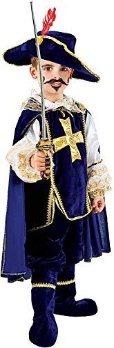 Costume di carnevale da moschettiere in velluto baby vestito per bambino ragazzo 1-6 anni travestimento veneziano halloween cosplay festa party 1047 taglia 4
