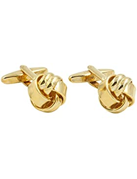 Gold Knoten Manschettenknöpfe | Golden Manschettenknöpfe für Hochzeit | Geschenk für Herren | 5Jahre Garantie