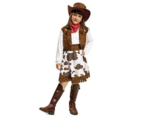 Imagen de my other me  disfraz de vaquera para niña, 10 12 años, color blanco y marrón viving costumes 200832