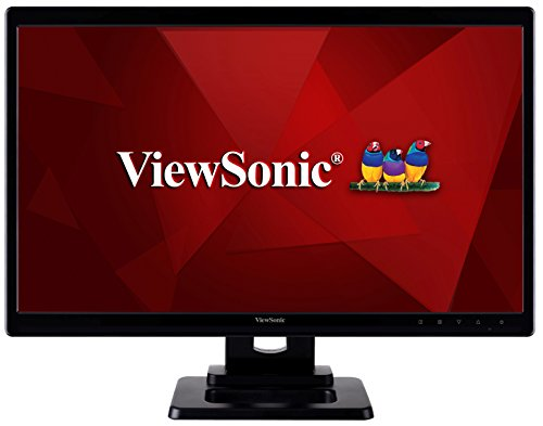 ViewSonic TD2220-2 22-inch Full HD 2-Points Touch LED Monitor (1920x1080 8H Scratch Resistant Surface VGA DVI USB) - Black