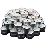 SLICETER Set Of 50 Premium Quality Tea Light Candles Smokeless 4.5 Hrs Burning