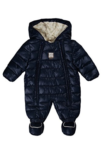 Kanz Unisex Baby Schneeanzug m. Kapuze 0003531, Blau (dress blue blue 3043), 86 (Herstellergröße: 86)
