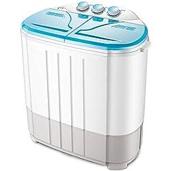 MOUTALE Portable pour Enfants Mini Baignoire Double Machine à Laver Et Essoreuse SéChage, Forte DéContamination 3kg Grande Capacité + Capacité De SéChage 2,5kg