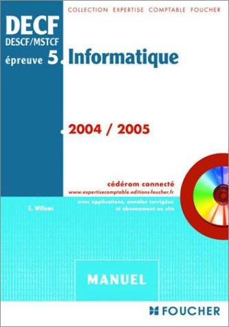 DECF épreuve, numéro 5 : Informatique (manuel)
