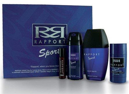 Dana Rapport Sport Confezione Regalo 100ml EDT + 150ml Body Spray + 60ml Deodorante Stick + 20ml EDT Rapport Red