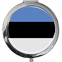 """metALUm - Extragroße Pillendose in runder Form""""Flagge Estland"""" preisvergleich bei billige-tabletten.eu"""