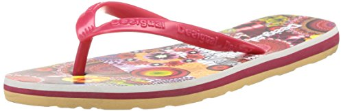 Desigual Mancha, Tongs femme Rouge (3080 Rio Red)