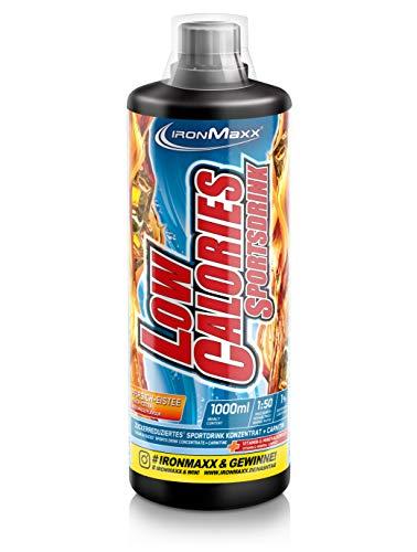Energie Flüssige Multivitamin (IronMaxx Low Calories Sportsdrink, Pfirsich-Eistee - Kalorienarmes Sportgetränk mit Carnitin, Vitamin B & Nährstoffen für eine vitalisierende & erfrischende Wirkung - 1er Pack (1 x 1l))