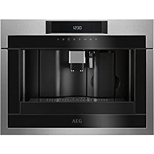 Aeg KKE884500M Built-in Fully Automatic Espresso Machine 1.8L 6 Cups Stainless Steel – Coffee Maker (Built-in, Espresso Machine, 1.8 l, Coffee Beans, Ground Coffee, 1350 W, Stainless Steel)