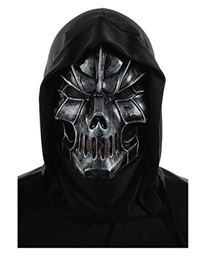 Kostüm Reaper Skull - Horror-Shop Doom Skull Maske für Halloween & Fasching