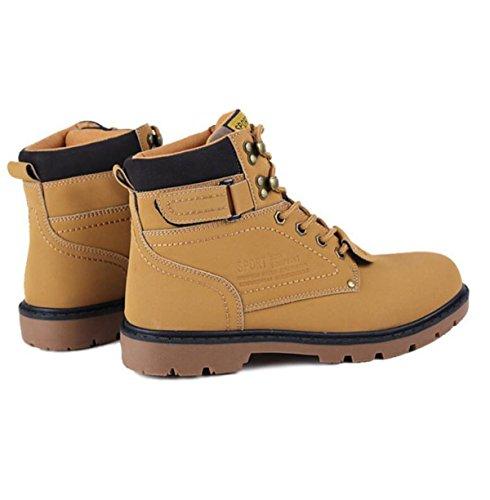 Scarpe Da Lavoro Autunno E Inverno Stivali Martin Uomini Casual Stivali Inghilterra Scarpe Retrò Grandi Scarpe Di Alta Qualità Yellow