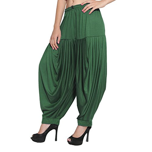 CRAFTSTRIBE Indian Patiala Salwar Viscose Lycra Hose Baggy Plain Hosen Free Size Dhoti Salwar Hose