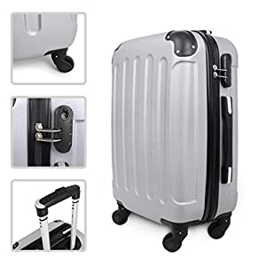 Todeco Wheeled luggage Wheeled suitcase Material ABS plastic Wheels 4 wheels 360° rotation Protected corners Carry on 20 inch es ABS from Todeco