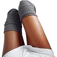 Mujeres Niñas Leggings Medias Hasta el Muslo Sobre la Rodilla Calcetines Sólido Cómodo Medias Largas Cálido
