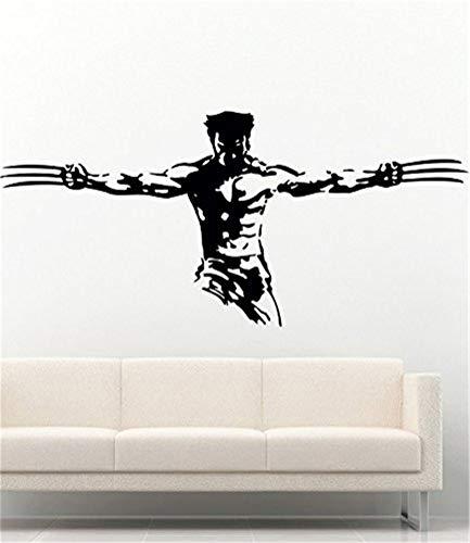 pegatinas de pared y murales Marvel Superheroes Vinilos decorativos Cool Wolverine Logan X-men Vinyl Decor Stickers