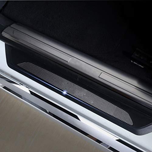 Cobear 4D Kohlefaser Einstiegsleiste Schutz Aufkleber Reflektierende Lackschutzfolie für 735i 735il 740d 740i 740il 745d 745i 750i 750il760i E32 E38 E65 E66 F01 F02 F04 Einstiegsleisten 4 Stück