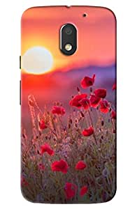 Moto e3 power Flower print hard high quality mobile Back Cover Case best colour and best fitting cover and this is very popular mobile cover (NO-1 Seller in Amazon)