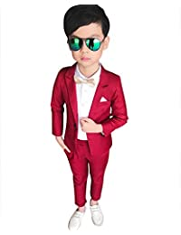 DianShao Jungen 2 Stück Formal Anzug Slim Fit Outfit Blazer + Hosen Bekleidungssets