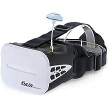 Goolsky KDS Kylin Visión 64CH 5.8G 3D FPV Gafas de RC Quadcopter 5 Pulgadas Auriculares VR con Batería para JJRC H8D H11D H6D