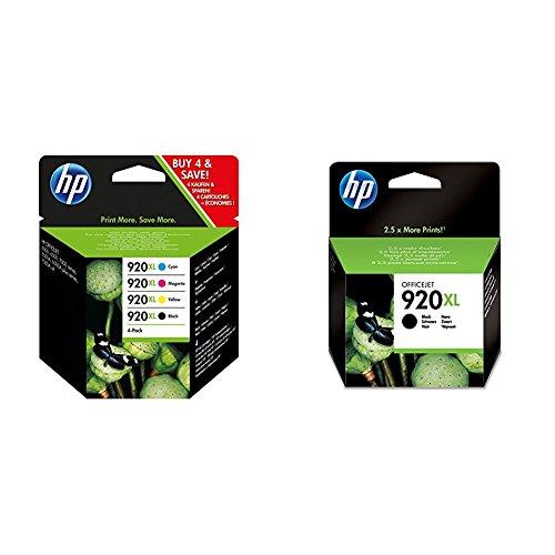 Preisvergleich Produktbild HP 920 XL Multipack & 920 XL Schwarz Original Druckerpatrone