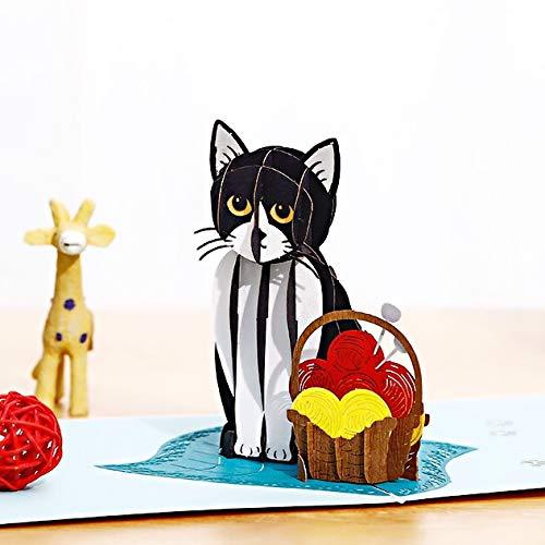 Liif Strick-Kitty-Grußkarte für alle Anlässe, lustige Geburtstagskarte, Muttertagskarte, Katzenliebhaber, Geschenk für Frauen