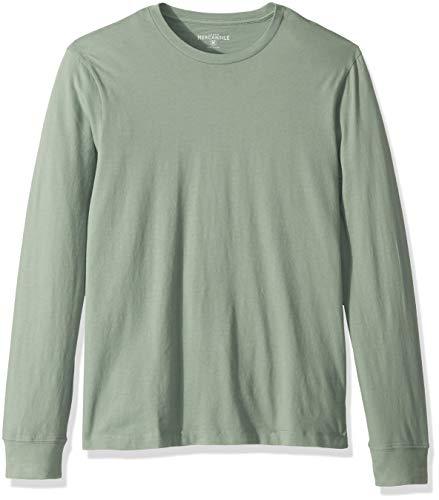 J.Crew Mercantile Herren Long-Sleeve Crewneck T-Shirt, Faded Willow, X-Klein -