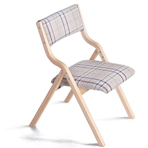 Hocker Massivholz Klappstuhl Haushalt Dinette Klapp Esszimmerstuhl Einfache Moderne Konferenzstuhl Klassischen Tuch Stuhl Holz Klappstuhl (46 * 41 * 78,5 cm) Stühle ( Farbe : I )