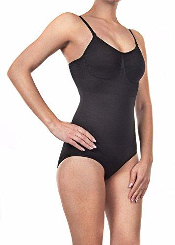 Shapewear Mieder Body Figurformend Seamless Slim Bauchweg Unterwäsche Damen Frauen (XXL, schwarz)