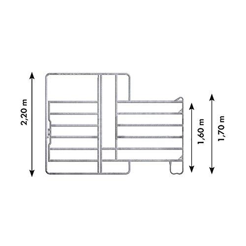 Panel-6 mit Tor und Fressgitter 3,60 m, 1 Fressplatz Breite 3,60 m, Höhe 2,20 m (1 Mittelstre) - 310436 -