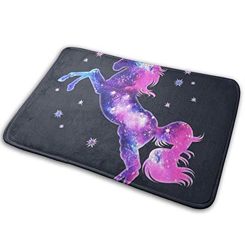 0f35cb677968b XIEXING Water Absorption Reactive Dyeing Durability Doormat Unicorn Horse  Galaxy Space Doormat, Carpet 15.7