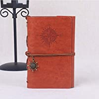 RuleaxAsi Retro Tie Office Business Artificial Leather Student Travel Gift Journal Diary Notebook