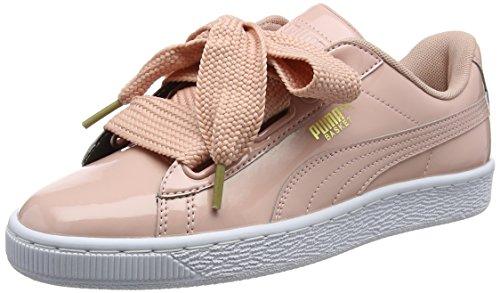 Puma Basket Heart Patent, Zapatillas para Mujer, Beige (Peach Beige), 38 EU