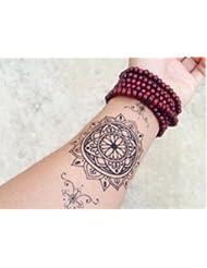 MANDALA NOIR tatouages temporaires pour le corps c006