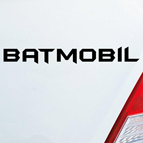 autocollants pour voiture en ta couleur au choix BATMOBIL pour Batman ventilateurs Joker, Comic Sombre Knight 19X2,5 cm Autocollant Sticker pour voiture - Jaune