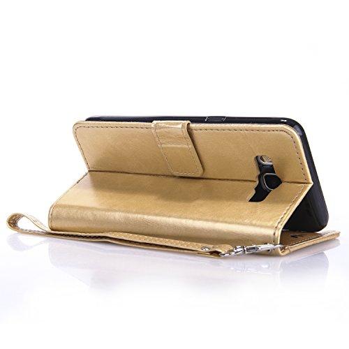 Meet de pour Apple iphone 5S / iphone SE Case, (Bling motif Papillons) Folio Wallet flip étui en cuir / Pouch / Case / Holster / Wallet / Case pour Apple iphone 5S / iphone SE PU Housse / en cuir Wall d'or