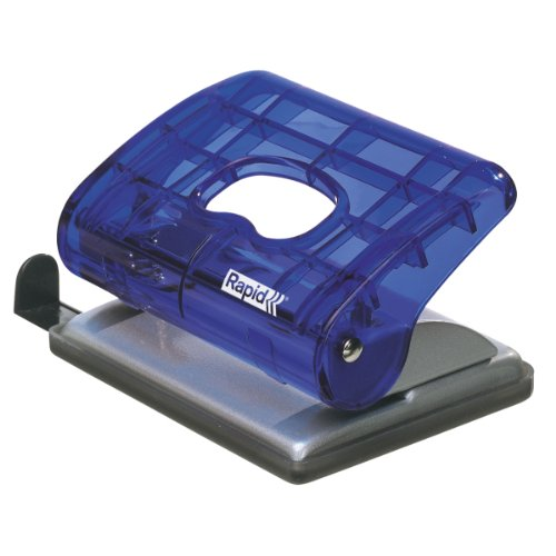 Leitz Bürolocher EC20, Kunststoff/Metall, 20 Blatt, transparent blau