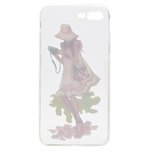 "Coque pour iPhone 7 , IJIA Ultra-mince Transparent Dream Girl Globe TPU Doux Silicone Bumper Case Cover Shell Housse Etui pour Apple iPhone 7 4.7"" (TT11) TT12"