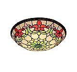 GAOLIQIN Tiffany Stil Decken Helle Wohnzimmer-Zimmer Dekoration Deckenlampe Bunt Glas Korridor Lampe,A