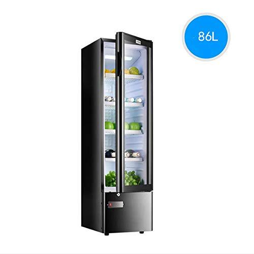 STAR BABY 86L freistehende Edelstahl-Kühlschrank - Weinschrank (Stand-Alone, Edelstahl, 4 Fachböden, 1 Tür, transparent) [Klasse B Energie]