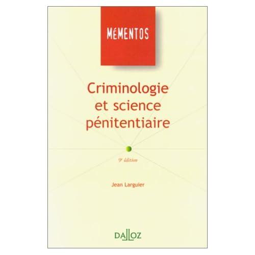 Criminologie et science pénitentiaire. 9ème édition
